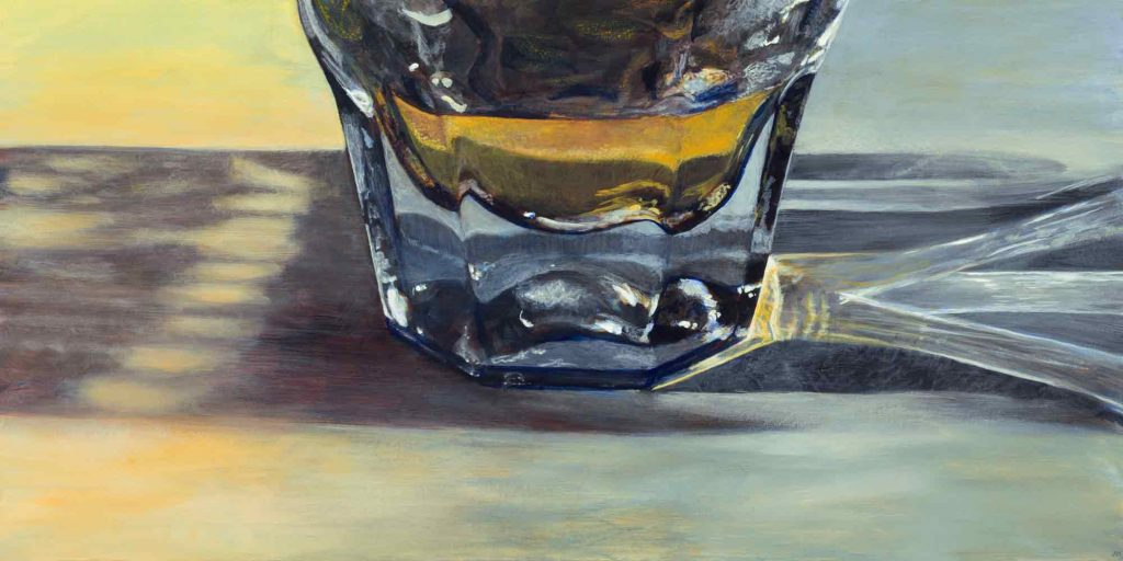 "Whiskey Shift • 36"" x 18"""