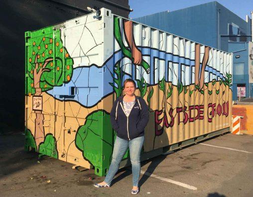 Veggielution container mural • 8' x 8' x 20'