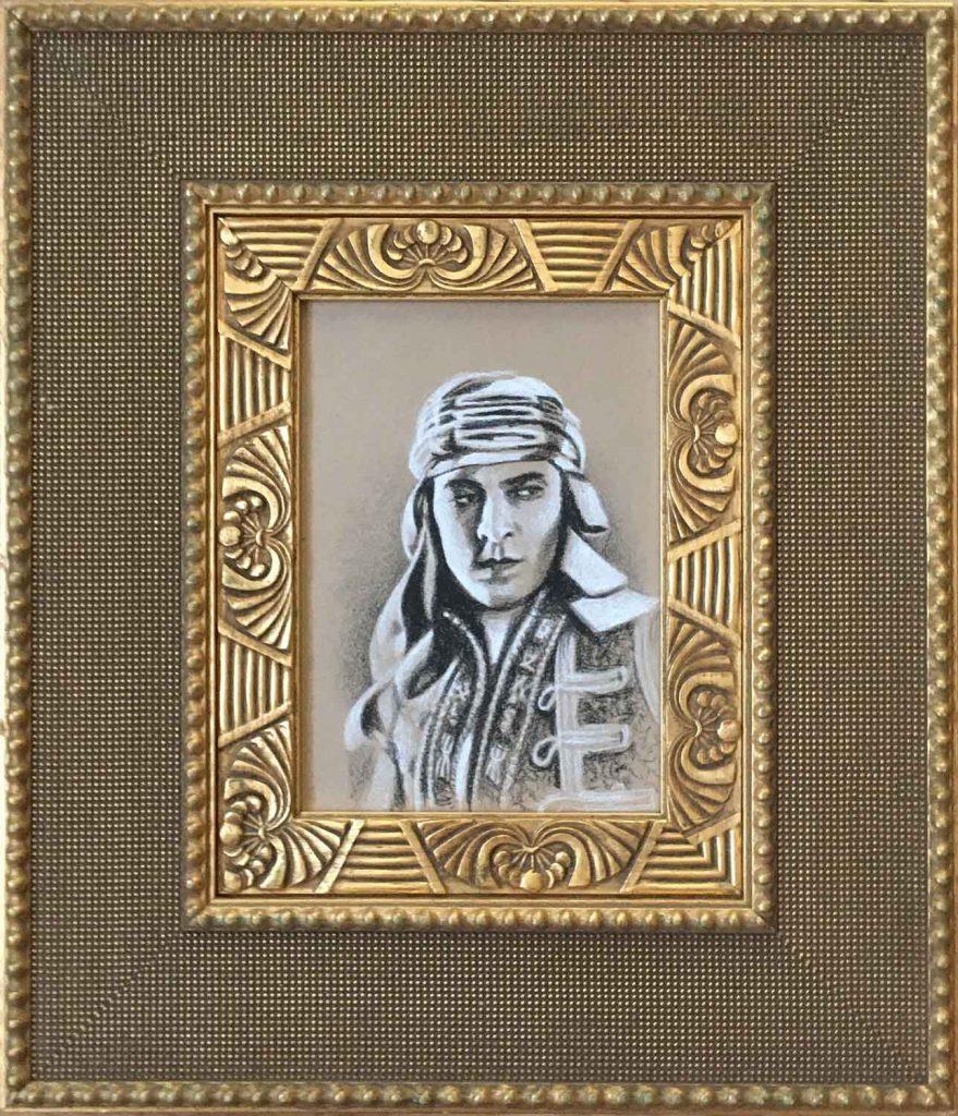 """Rudolph Valentino • 12.125"""" x 14.125"""" framed"""