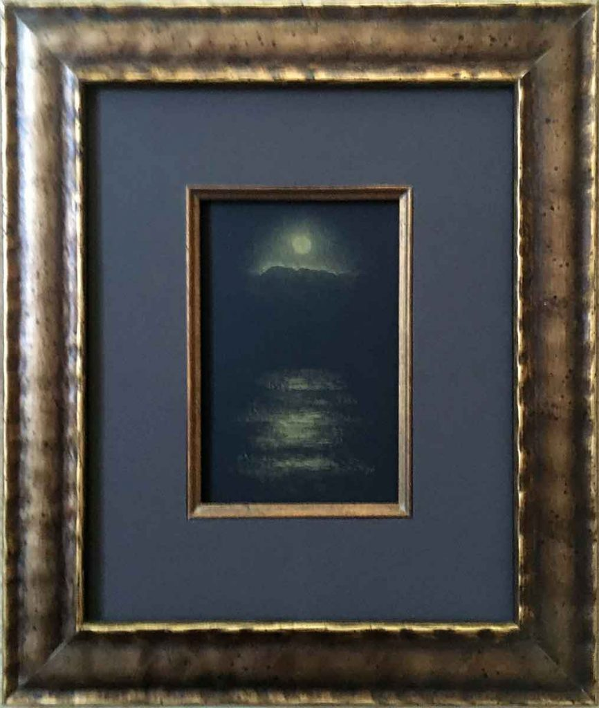 "Moonrise • 11"" x 13"" framed"