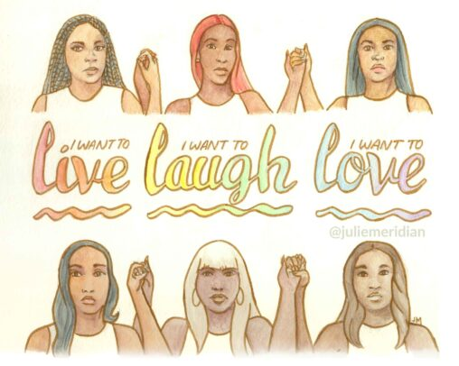 "Live Laugh Love • 8"" x 10"""