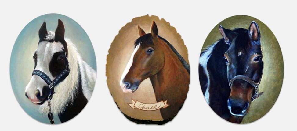Portraits of Horses by Julie Meridian