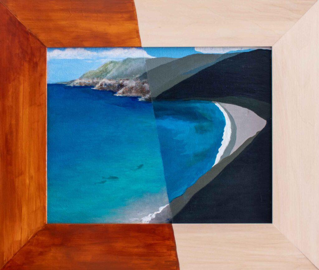 """Quiet Cove \ Anonymous • 19.5"""" x 16.5"""""""