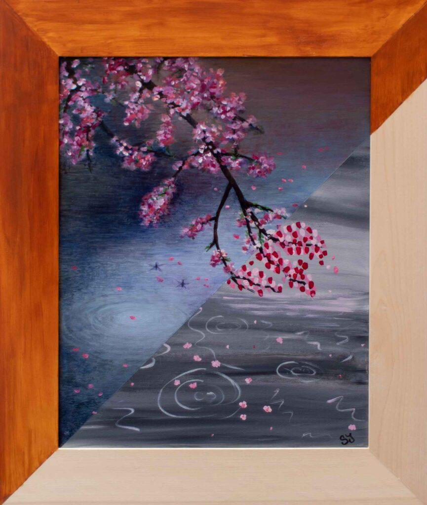 "Cherry Blossoms \ SJ • 21.5"" x 25.5"""
