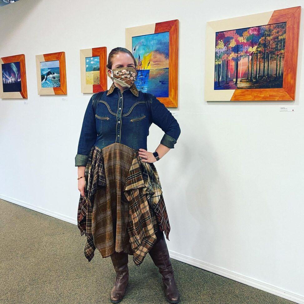 Julie Meridian at Meet You Halfway show, Kaleid Gallery
