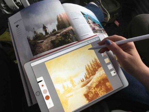 Painting on an iPad Pro