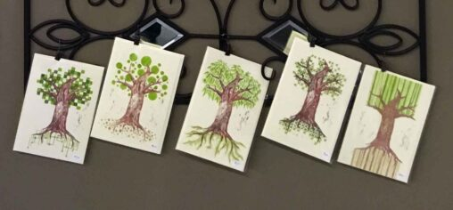 Ever-changing tree cards